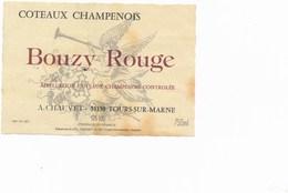 étiquette De Vin Du Coteaux CHAMPENOIS à  TOURS SUR MARNE  -  CHAUVET      ( Recto Verso ) - Champagne