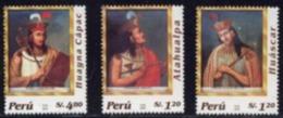 Peruvian 2004 Peru Inca Empire Emperor - Huanecke Park 3 Brand New - Peru