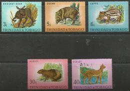 Trinidad & Tobago - 1971 Animals Set Of 5 MNH **  SG 392-6  Sc 196-200 - Trinidad & Tobago (1962-...)