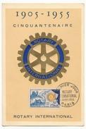 FRANCE => Cartes Maximum => Cinquantenaire Du Rotary International - 3 Février 1955 - Paris - 1950-59