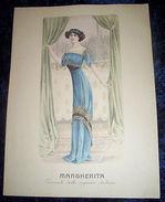 Stampa Litografia D' Epoca Originale - Moda Abiti Donna A32 - 1900 Ca - Stiche & Gravuren
