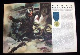 WWII Cartolina - Medaglie D' Oro Guerra 1941 Chiamenti - Militaria