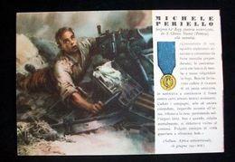 WWII Cartolina - Medaglie D' Oro Guerra 1941 - Periello - Militari