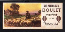 Buvard Publicitaire / Le Meilleur Boulet ( Charbon) Une Barre Sur Chaque Face / Berger Et Ses Moutons - Buvards, Protège-cahiers Illustrés