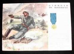 WWII Cartolina - Medaglie D' Oro Guerra 1941 Di Borbone - Militari