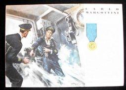 WWII Cartolina - Medaglie D' Oro Guerra 1940 Margottini - Militari