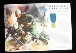 WWII Cartolina - Medaglie D' Oro Guerra 1941 Cantaffio - Militaria
