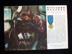 WWII Cartolina - Medaglie D' Oro Guerra 1941 - Balagna - Militaria