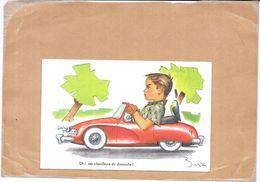 ILLUSTRATEUR BERTIN - CPA COLORISEE -  Oh Ces Chauffeurs Du Dimanche !! - TON3 - - Autres Illustrateurs