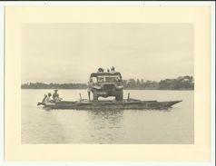 Rare MADAGASCAR- Passage Du Bac Gendarmerie , Région De Brickaville - 1953 - Photo 24 X 18 Cm - Madagascar