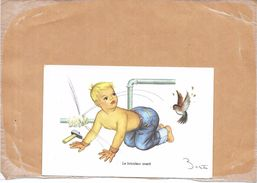 ILLUSTRATEUR BERTIN - CPA COLORISEE - Le Bricoleur Averti   - TON3 - - Autres Illustrateurs