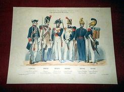 Stampa Militaria Uniformologia - Uniformi Esercito Francia 1770 / 1841 - Stampe & Incisioni