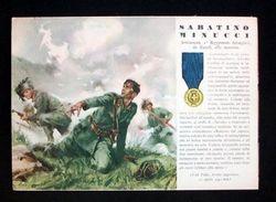 WWII Cartolina - Medaglie D' Oro Guerra 1941 - Minucci - Militaria