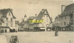 03 Cusset, Cp Pionnière (avant 1904) La Place, Beau Tacot Au 1er Plan - Andere Gemeenten