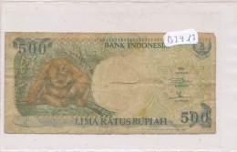 Billets -B2913 -Indonésie - 500 Lima Ratus Rupiah (type, Nature, Valeur, état... Voir  Double Scans) - Indonésie
