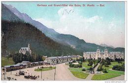 ST. MORITZ:  KURHAUS  UND  GRAND-HOTEL  DES  BAINS  -  NACH  UNGARN  -  KLEINFORMAT - Hotels & Restaurants