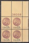 UNITED STATES   SCOTT NO  1734      MNH      YEAR  1978      PLATE  BLOCK OF 4 - United States