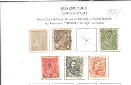 Lussemburgo 1906/26 Official Scott.O80+81+84+86+See Scans - Servizio