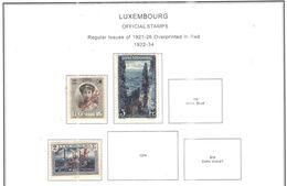 Lussemburgo 1922/34 Official Scott.O136+138+139+See Scans Usati - Servizio