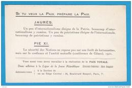 CPA  Ann. 1920 Carte D'adhésion LIGUE De La JEUNE RÉPUBLIQUE Directeur-Fondateur MARC SANGNIER -2 SCANS - Partis Politiques & élections