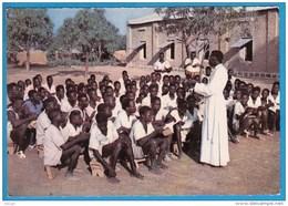 """CPSM Ann.1960 Haute-Volta * """" Les Africains Seront Convertis Par Les Africains """" (Cardinal LAVIGERIE) TBE Scan R/V - Burkina Faso"""