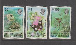 Yvert 54 / 56 ** Neuf Sans Charnière MNH Méduse Araignée Papillon - British Indian Ocean Territory (BIOT)