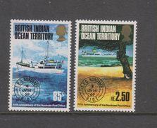 Yvert 57 / 58 ** Neuf Sans Charnière MNH Bateau - British Indian Ocean Territory (BIOT)