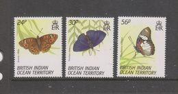 Yvert 150 / 152 ** Neuf Sans Charnière MNH Papillon Butterfly - British Indian Ocean Territory (BIOT)