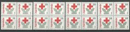 Yugoslavia,Red Cross 1990.,blocks Of Four-without Macedonia Issue,MNH - 1945-1992 Socialist Federal Republic Of Yugoslavia