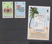 Yvert 108 / 109 + BF 3 ** Neuf Sans Charnière MNH Drapeau Flag écusson Carte - British Indian Ocean Territory (BIOT)