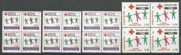 Yugoslavia,Red Cross 1991.,blocks Of Four-without Macedonia Issue,MNH - 1945-1992 Socialist Federal Republic Of Yugoslavia