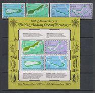 Yvert 82 / 85 + BF 2 ** Neuf Sans Charnière MNH Carte - British Indian Ocean Territory (BIOT)