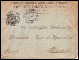 5609 Lettre Cover Bouches Du Rhone Italie Italy Pour Marseille Flier Secap Jeux Olympiques (olympic Games) Paris 1924 - Zomer 1924: Parijs