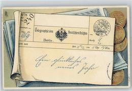 51139558 - Muenzen / Geldscheine Telegramm - Monnaies (représentations)