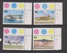 Yvert 123 / 126 ** Neuf Sans Charnière MNH Avion - Territoire Britannique De L'Océan Indien