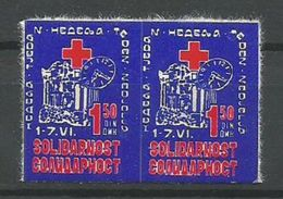 Yugoslavia,Solidarity 1984.,label-in Pair,MNH - 1945-1992 Socialist Federal Republic Of Yugoslavia