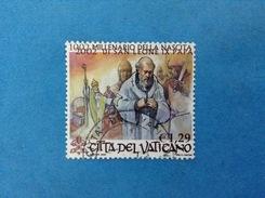 2002 VATICANO FRANCOBOLLO USATO STAMP USED - SAN LEONE IX PAPA 1,29 - - Vaticano