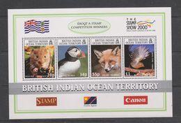 Yvert Bloc 13 ** Neuf Sans Charnière MNH Animaux Animals Renard Rouge-gorge Campagnol Macareux - British Indian Ocean Territory (BIOT)