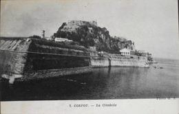 CPA - GRECE - Corfou Ou Corcyre Est Une île Grecque Située En Mer Ionienne - La Citadelle - Daté 1918 - TBE - Grèce