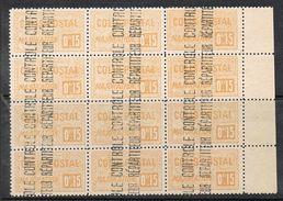 ALGERIE COLIS POSTAL N°11 N**  En Bloc De 12 Timbres - Algérie (1924-1962)