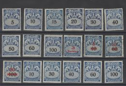 Dantzig - Timb.Allemagne Avec Surch.  Taxe  1923_  Série  N °24/41 - - Danzig