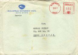 Letter - Automobile (Car) Slovenia Novo Mesto Industrija Motornih Vozil IMV ( Yugoslavia ) - Voitures