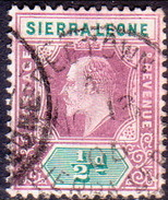 SIERRA LEONE 1905 SG #86 ½d Used Wmk Mult.Crown CA - Sierra Leone (...-1960)