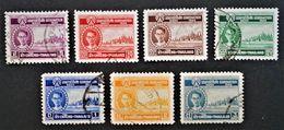 COURONNEMENT DU ROI RAMA IX 1950 - OBLITERES - YT 264/65 + 267/71 - MI 274/75 + 277/81 - Thaïlande