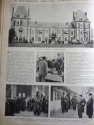 """Doumergue Chez Les """" Gueules Cassées """" A Moussy Le Vieux 1931 - Documenti Storici"""