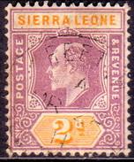SIERRA LEONE 1905 SG #89 2d Used Wmk Mult.Crown CA - Sierra Leone (...-1960)