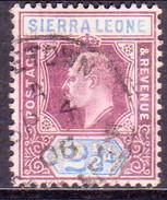 SIERRA LEONE 1905 SG #90 2½d Used Wmk Mult.Crown CA - Sierra Leone (...-1960)