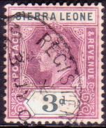 SIERRA LEONE 1905 SG #91 3d Used Wmk Mult.Crown CA - Sierra Leone (...-1960)