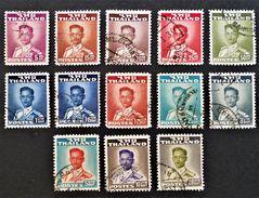RAMA IX 1951/59 - OBLITERES - YT 272 + 274/78C - MI 282A + 284A/95A - Thailand