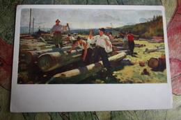 Ukraine. Hutsul Lumberjack - OLD USSR PC  - 1956 - Altri